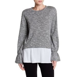 BCBGENERATION Mixed-Media French Terry Top XS